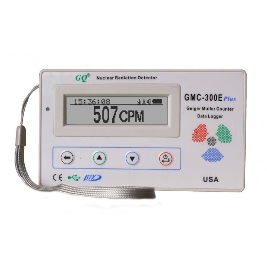 GQ GMC-300E Plus Geiger Counter Nuclear Radiation monitor Data Logger